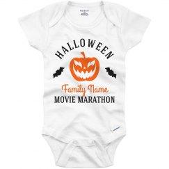 Halloween Movie Marathon Baby Onesie