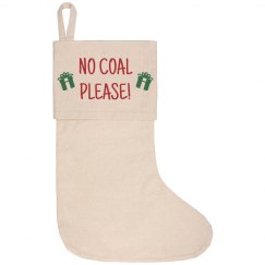 Please No Coal For Me