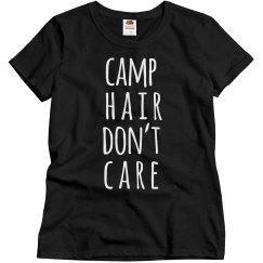 Camping Hair Don't Care Trendy Camping Shirt