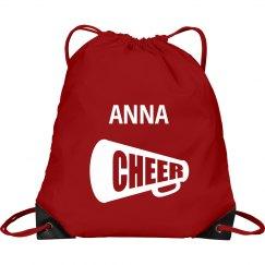 Anna pull string cheer bag