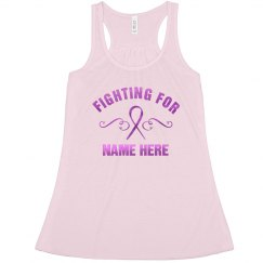 Custom Metallic Breast Cancer Fight Racerback