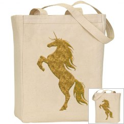 Gold Fire Unicorn Bag