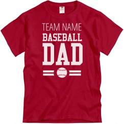 Custom Baseball Fan Dad