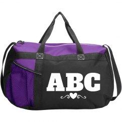 Custom Monogram Sports Bag