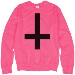Inverse-cross Neon Pink