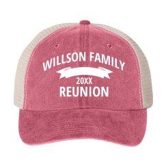 Customizable Reunion Family Hat