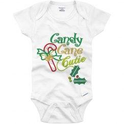 Candy cane cutie onesie