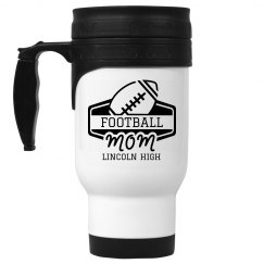 Football Mom Custom Travel Mug