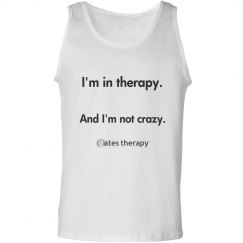 not crazy men's tank(front only)