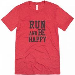 Mens Run and Be Happy