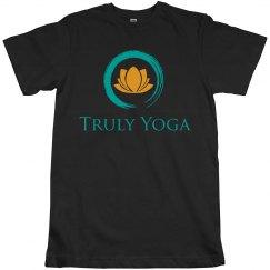 Truly Yoga Logo Unisex T-Shirt (Black)