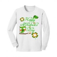 Happy St Patrick's Day, Long Sleeve Cotton Top