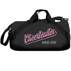 Glitter Cheerleader Custom Duffle Bag