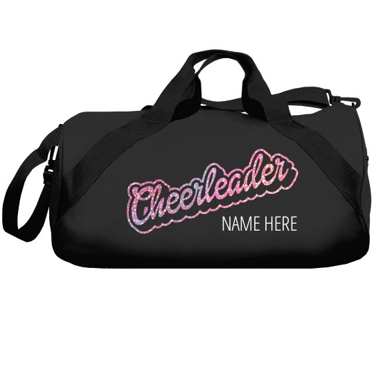 b515a0a52a66 Glitter Cheerleader Custom Duffle Bag Liberty Bags Barrel Duffel Bag