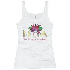 MOA Women's Long Tank in Neon