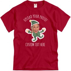 Custom Photo Upload Elf Tees