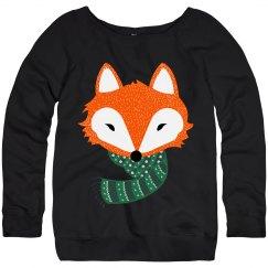 Cozy Fox With Scarf