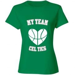 My team cel tics shirt