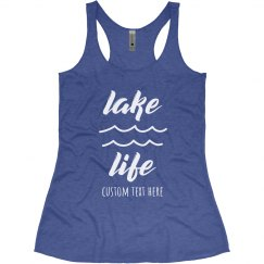 Lake Day Custom Racerback Tank