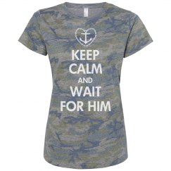 Navy Girlfriend Keep Calm And Wait
