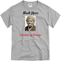 Grey tee w/Harriet Tubman graphic