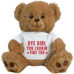 Aye Girl Gangsta Valentine Bear