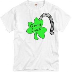 Good Luck Horseshoe Shamrock Tee