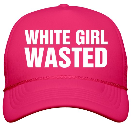 Spring Break White Girl Wasted Hat Film and Foil Solid Color Snapback  Trucker Hat 67ca2538c101