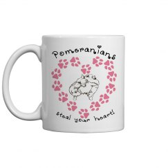 Pomeranians Steal Your Heart - Coffee Cup/Mug