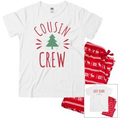 Custom Christmas Cousin Crew PJs
