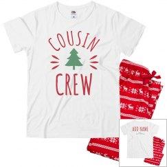Custom Christmas Cousin Crew PJs