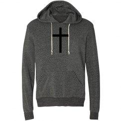 Grey Cross Hoodie