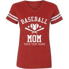 Custom Baseball Mom Vintage Tee