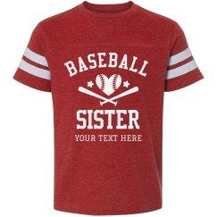 Custom Baseball Sister Vintage Tee