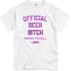 Official Beer Bitch Fantasy Football Loser