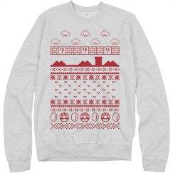Super Pixel World Ugly Sweatshirt