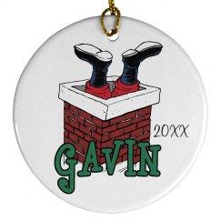 Santa Quinn Ornament