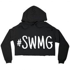 SWMG Hashtag Cropped Hoodie