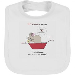 Mouse House Bib