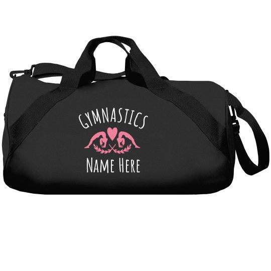 Liberty Bags Barrel Duffel Bag. Custom Gymnastics Opal Blue b9492123ec