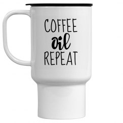 COFFEE OIL REPEAT Travel Mug