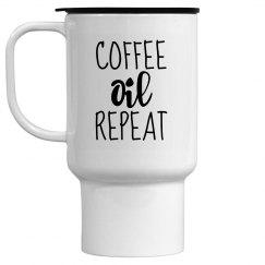 COFFEE OIL REPEAT Travel Mug