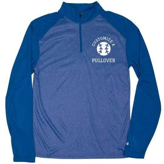 244b6421 Custom Athletic Baseball Pullover Unisex Pro Heather Quarter-Zip Pullover  Sweatshirt