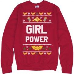 Girl Power Christmas Ugly Sweater