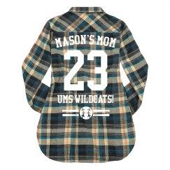 Mom's Custom Baseball Flannel
