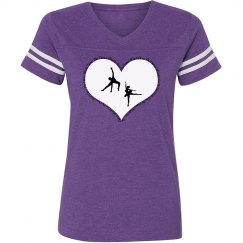 I Love The Dance Works Sporty Misses Tee
