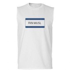 muscle shirt vanity plate