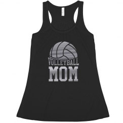 Metallic Silver Volleyball Mom