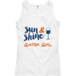 Sunshine & Wine Gator Girl