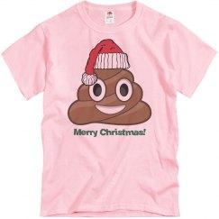 Lg Santa Poop Clause  pink